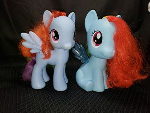 "(2) My little ponies pegasus each 8"" for Sale in South Zanesville, OH"