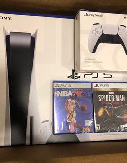 ps5 console disc bundle for Sale in Decatur,  GA