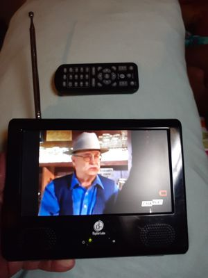 7 inch portable LCD TV Digital Labs anywhere you go I can watch TV come with a charger for Sale in Wichita, KS