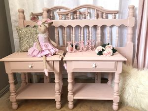 Blush Pink Twin Size Bed & Nightstand Set for Sale in Covina, CA