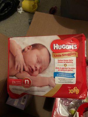 Newborn Huggies diapers for Sale in Grand Prairie, TX