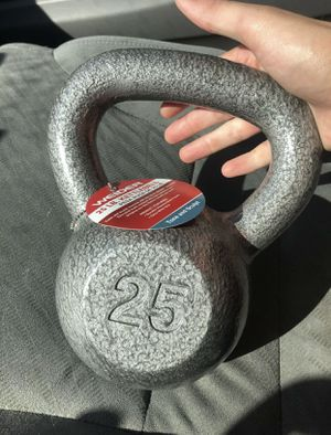 Weider 25 Pound Kettle Bell Workout Dumbbell Weights Cast Iron for Sale in Grand Prairie, TX