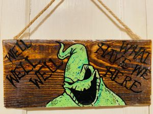 Hand painted Nightmare Before Christmas wood panels. for Sale in Los Angeles, CA