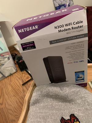 Netgear WiFi cable modem router for Sale in West Liberty, IA