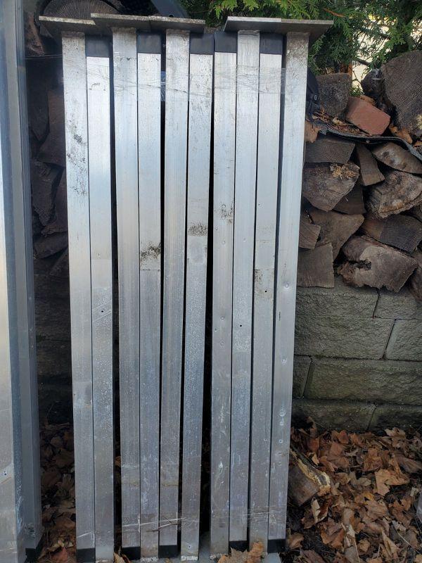 Boat dock? Aluminum panels.