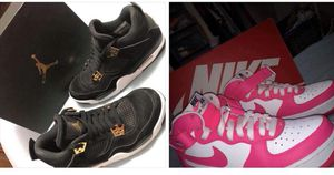 Jordan 4 retro royalty & white and pink air forces nike. for Sale in West Valley City, UT