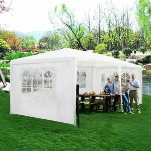 10'x20' Canopy Tent Heavy Duty Wedding Party Tent W/4 Sidewalls & Window for Sale in Cypress, CA