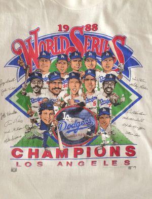 🔵⚪️ Vintage LA Dodgers 1988 World Series champions Salem sports shirt for Sale in Long Beach, CA