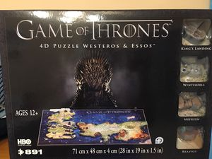 Game Of Thrones 4D Puzzle of Westeros and Essos for Sale in Douglasville, GA