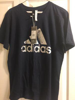Men Blue Adidas shirt Medium for Sale in Washington, DC