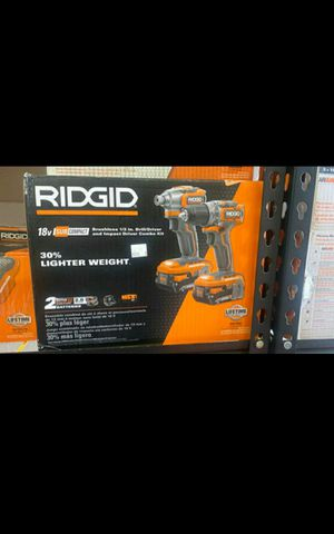 "Ridgid (Like new) 18Volt Brushless 1/2"" Drill Driver , Impact Driver Combo $170 for Sale in La Habra Heights, CA"