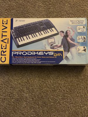Prodikeys DM musical keyboard and regular keyboard for Sale in Columbus, OH