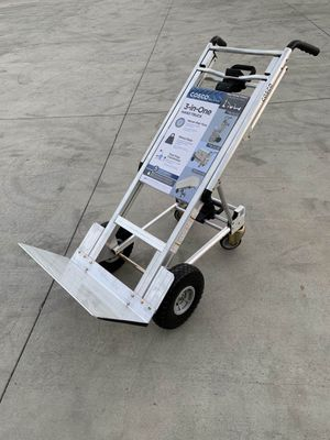 New Cosco Heavy Duty 1000 lb. 3-In-1 Aluminum Assisted Hand Truck Dolly Cart with Flat Free Wheels Commercial Grade $180 MSRP for Sale in Los Angeles, CA