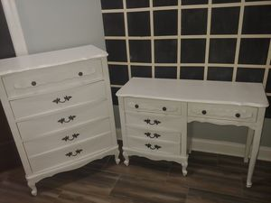 French Provincial Chest of Drawers and Desk for Sale in Raleigh, NC
