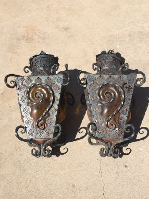Hand forged antique lamps for Sale in Scottsdale, AZ