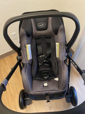 Evenflo attach/detach car seat stroller for Sale in Tacoma, WA