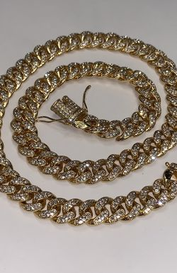 22k Stainless Steel Miami Cuban Necklace 28 Inches for Sale in Las Vegas,  NV