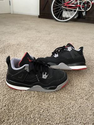 Jordan 4 retro kids boys 13c bred for Sale in Redlands, CA
