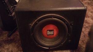 Dual 300 watt 12 inch subwoofer/amplifier combo for Sale in Wichita, KS