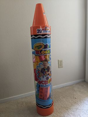 Crayola building blocks 70 pieces for Sale in Sunnyvale, CA