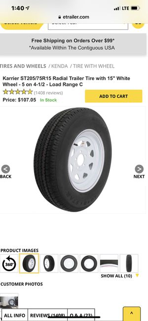15 inch trailer tire for Sale in Bloomingdale, IL