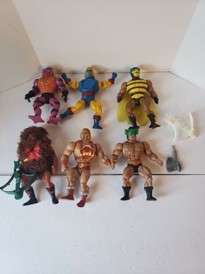 Vintage he-man and thundercats action figures toy lot for Sale in Peoria, AZ