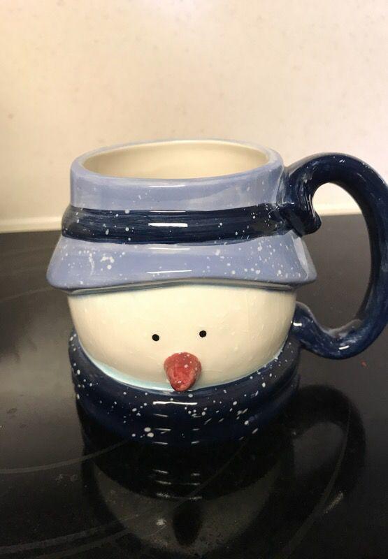 Blue Snowman 4 Piece Set