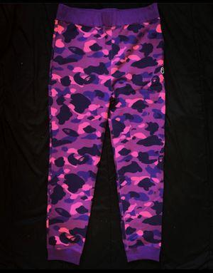 Bape Color Camo Purple Sweatpants Online Exclusive for Sale in Taunton, MA