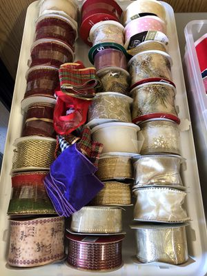 New bolts of Christmas ribbons for Sale in Mission Viejo, CA