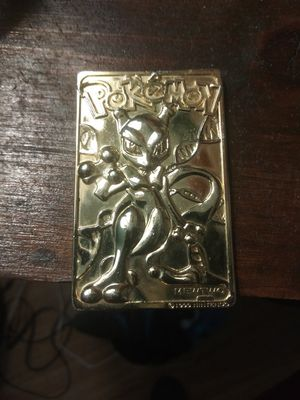 Pokemon. Mewtwo gold plated collectable for Sale in Columbus, OH