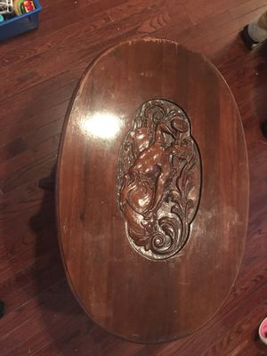 Early 19th century mermaid coffee table for Sale in Philadelphia, PA
