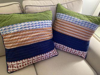 2 beach themed decorative pillows for Sale in Rockaway,  NJ