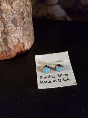 Moonstone sterling silver earrings stud new halloween Christmas fall autumn thanksgiving decor decorations for Sale in Irvine, CA