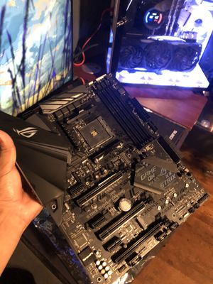 B450-F ASUS ROG STRIX AM4 MOTHERBOARD for Sale in Sanger, CA