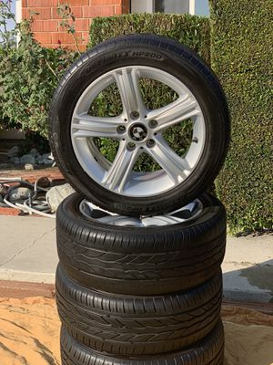 Bmw oem 17x7.5 5x120 inch rims wheels with 225x50x17 Definity tires for Sale in Lake Forest, CA