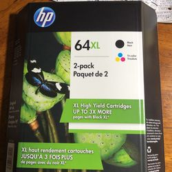 HP 64XL 2-pack Black&Color for Sale in Fresno,  CA