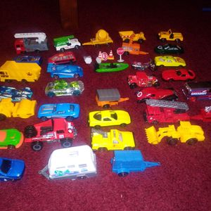 Various toy cars and trucks With Toy car playmat for Sale in Auburndale, FL