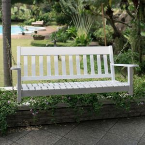 Thames White Wood Porch Swing by Cambridge Casual for Sale in Houston, TX