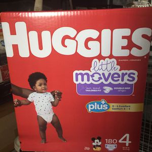 Huggies Diaper Size 4 180 Count New for Sale in Englewood, NJ
