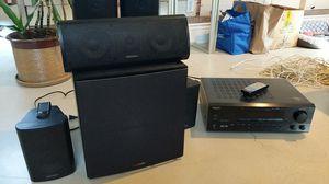 Onkyo Tuner and surround polk audio sound speakers for Sale in Clovis, CA