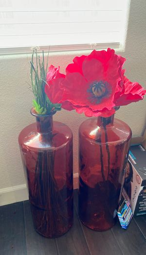 Antique vases with flowers for Sale in Elk Grove, CA