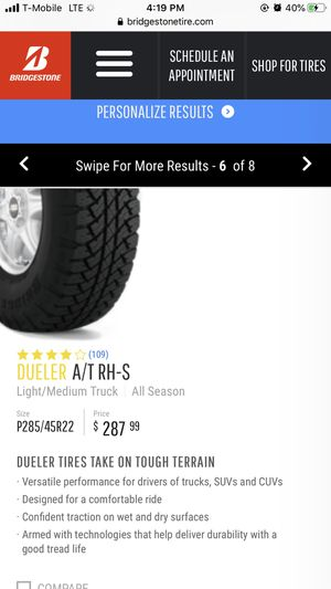 Tires Dueler A/T RH-S for Sale in Virginia Beach, VA