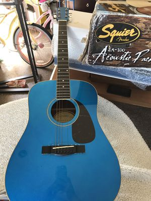 Squier 20th Anniversary SD-6G MBL Acoustic Guitar Metallic Blue for Sale in Long Beach, CA