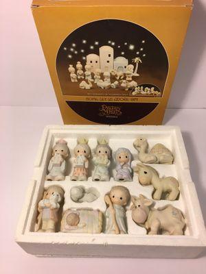 Precious Moments Come Let Us Adore Him 11 Piece Nativity w/ Box E-2395 Dove for Sale in Oklahoma City, OK