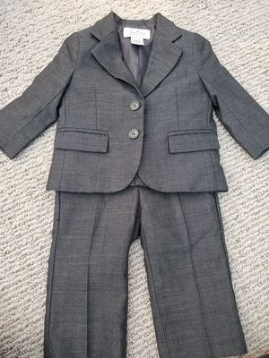Janie and Jack size 6 to 12 mo suit in gray for Sale in Glendora, CA
