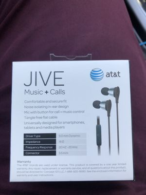 New jive earbuds in box for Sale in Las Vegas, NV