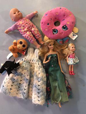 Barbie, shopkins, ty toy, vintage Kawaii bag lot for Sale in Tacoma, WA