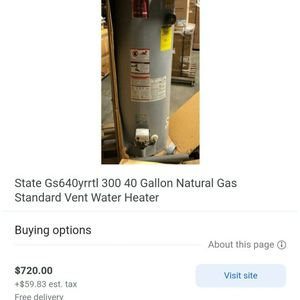 New water heater dent it but working good for $99 for Sale in Wheat Ridge, CO