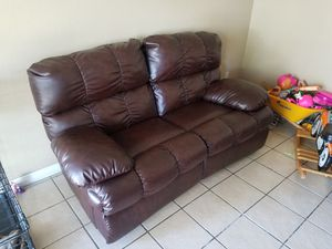 Leather couch recliner for Sale in Fresno, CA