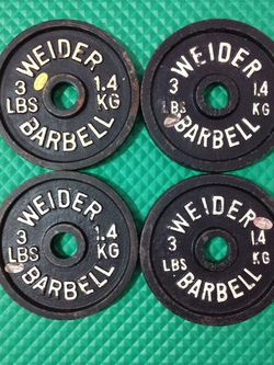 4, 3 Lbs Standard Weight Plates for Sale in Lewisville,  TX
